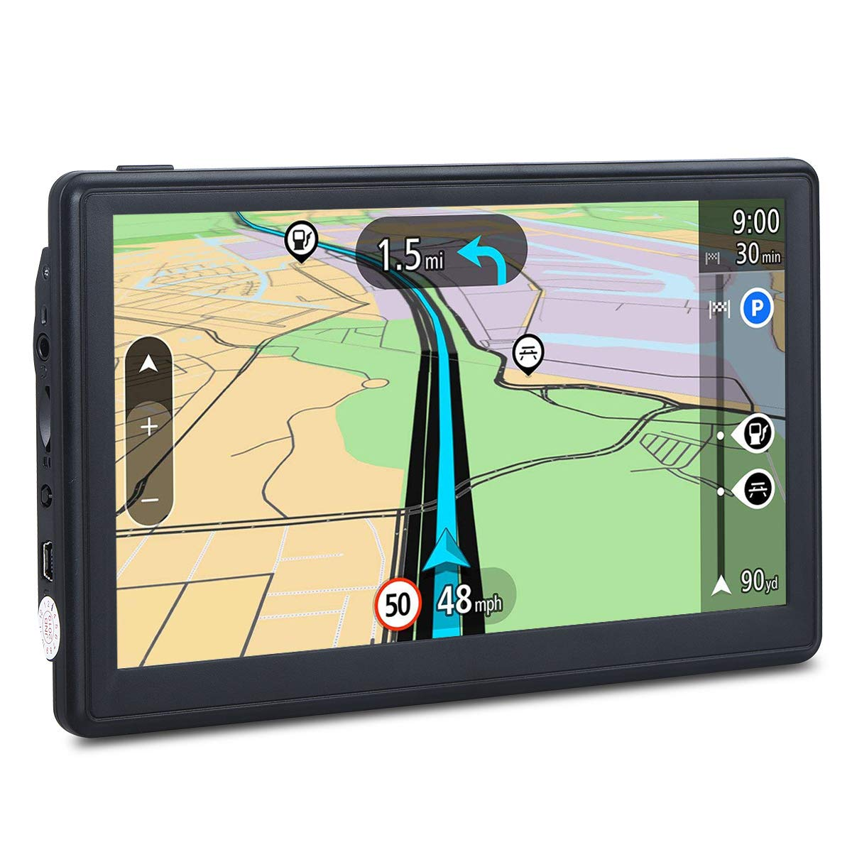 7-inch Navigation System for Cars, Car GPS Spoken Turn- to-Turn Vehicle GPS, Lifetime Map Updates by FULiYEAR