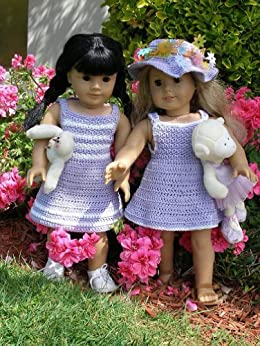 Garden party crocheting pattern for 18 inch dolls kindle for Garden tools for 18 inch doll