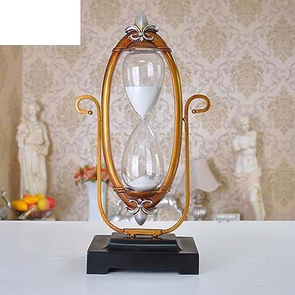 Creativos estilo retro reloj de arena adornos/ resina relojes antiguos/ Adornos de regalo de