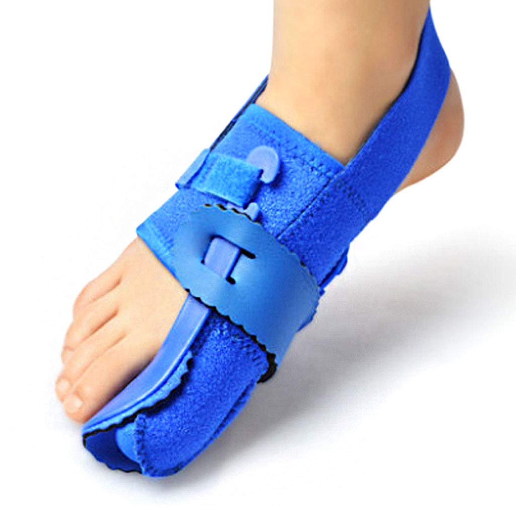 DONGBALA Night Bunion Corrector, Big Toe Brace Adjustable Hallux Valgus Overlapping Toe Bending Unisex(Blue),rightfoot