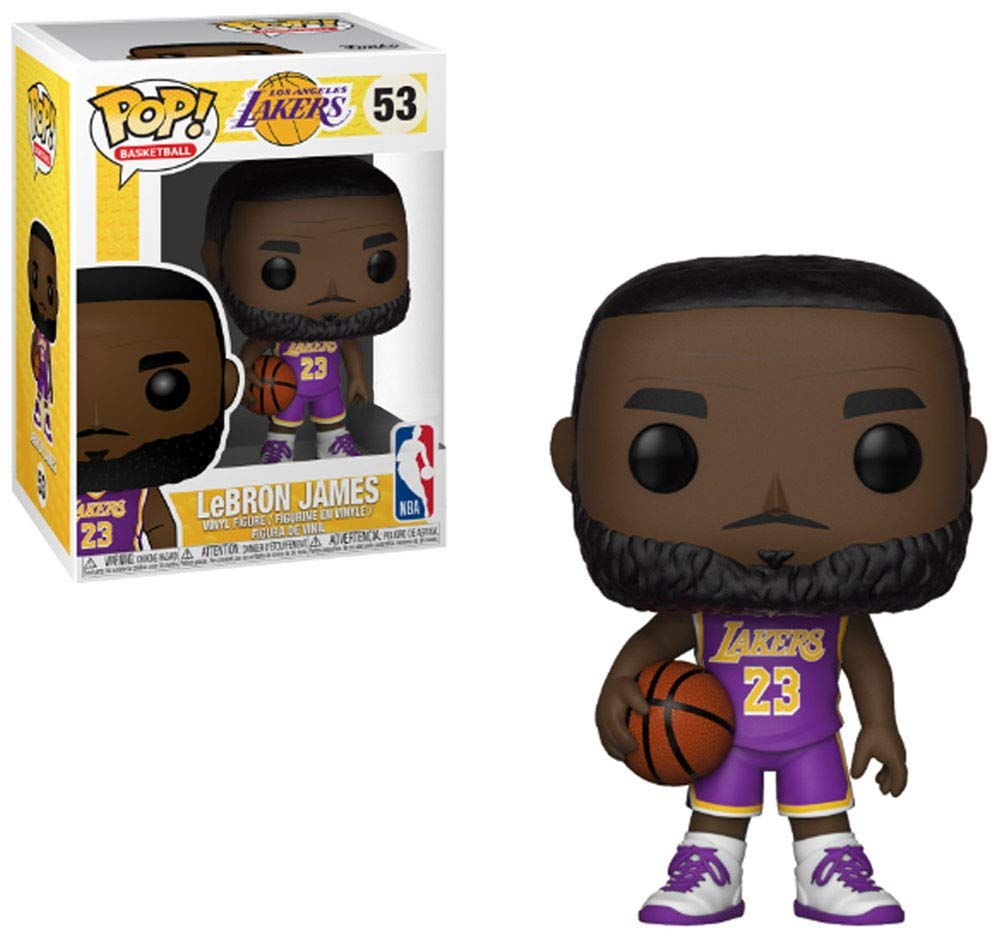Funko Pop! Basketball Lebron James Purple Lakers Uniform: Amazon ...