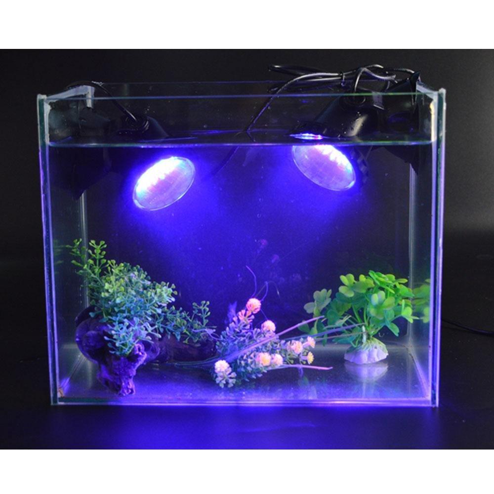2 Pcs 36 Leds Sumergible Foco Lámpara Bajo El Agua Estanque Piscina Acuarios Submersible Luz de Acuario Estanque LED Luces Peceras para Jardín, Pecera, ...