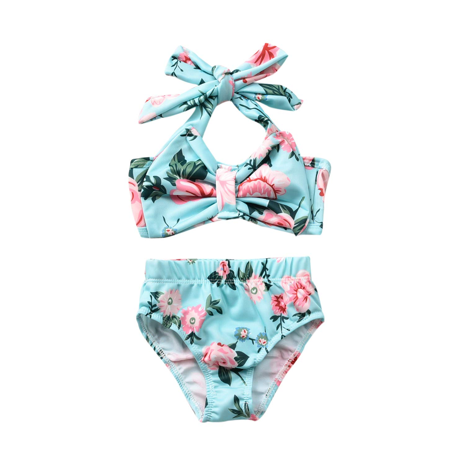 Toddler Girls Two Piece Swimsuit Halter Top Bikini Bottoms Swimming Suit Aalizzwell Baby Girl Bathing Suit