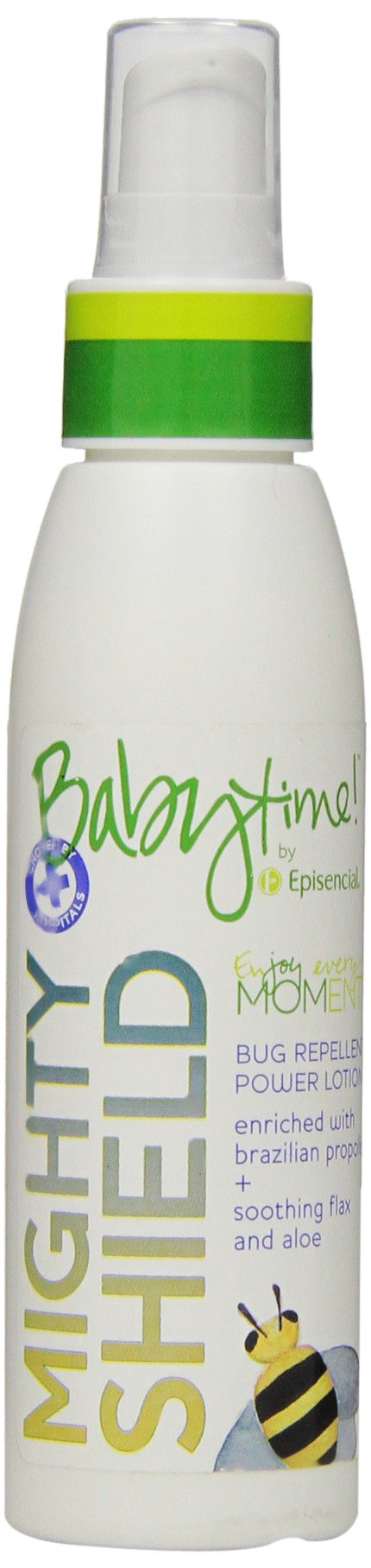 Babytime by Episencial Mighty Shield Bug Repellent DEET-Free Lotion, 3.4 Ounce