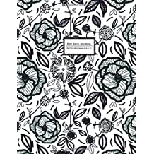 Dot Grid Journal - Dotted Notebook, 8.5 x 11: Black & White Modern Floral, Soft Cover, Extra Large (Simply Journal To Write In)
