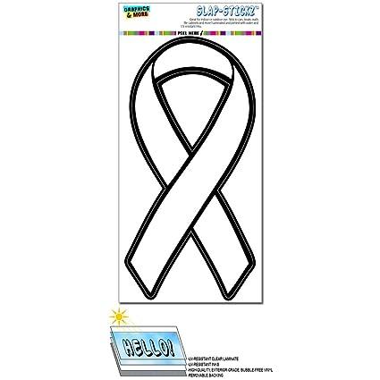 White Awareness Support Ribbon Lung Cancer Slap Stickz Tm Automotive Car Window Locker Bumper Sticker