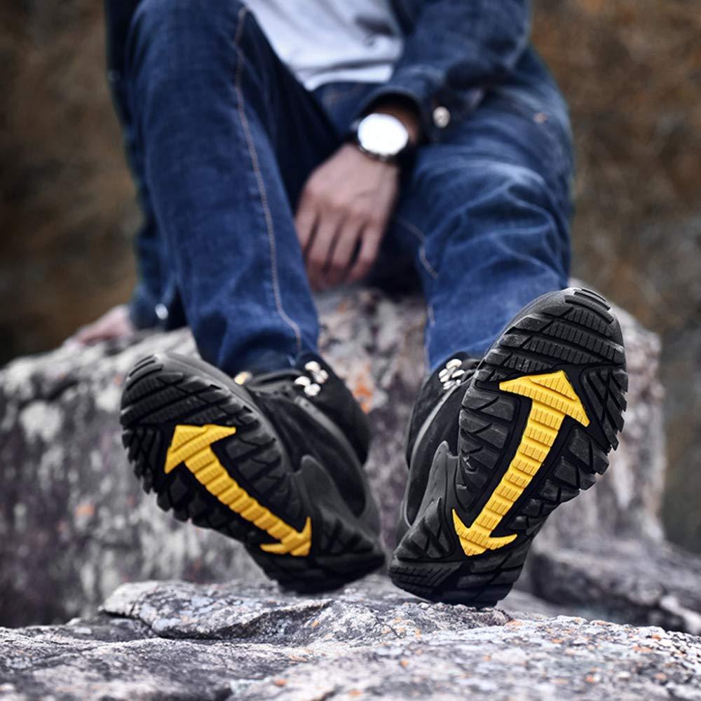 Yra Outdoor Männer Wandern Trekking Schuhe Für Männer Outdoor High Top Wanderschuhe Schnürschuhe Sneakers Für Arbeit Klettern Warme Schuhe schwarz 74ac0d