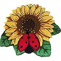 YOUSA Sunflower Door Mat Flower Shaped Rug Anti-slip Floor Mat 30.325.6