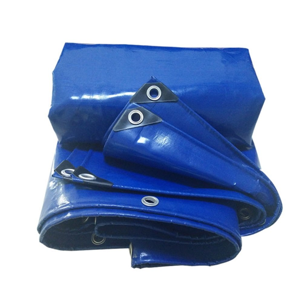 LQQGXL Abdeckungs-LKW-Regenwasserschutzplanenladung staubdichtes windundurchlässiges Hallengewebe Anti-Korrosionsanti-Altern, blau Wasserdichte Plane
