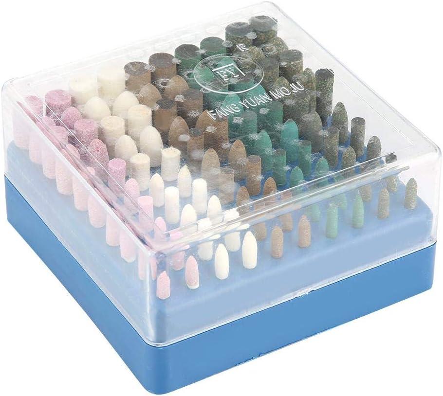 Akozon Grinding Bit Set 100pcs Grinding Head Kit 3mm Shank Polishing Wheel Bit Rotary Tool Accessories
