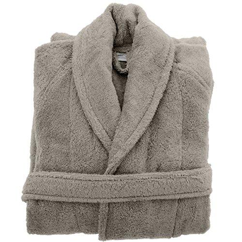 Albornoz de baño 450gr/m² algodón peinado/Modal sensilk, añil, 4 - XL Gris
