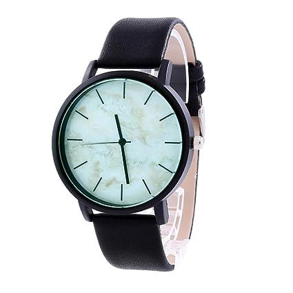 Xinantime Relojes Unisex,Xinan Relojes Reloj Pulsera Cuero Cuarzo PU Acero Inoxidable (B)