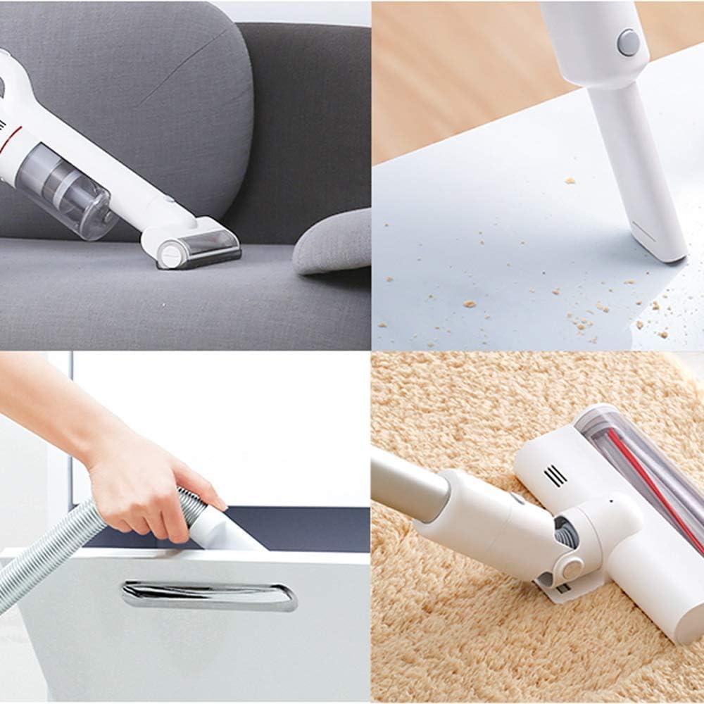 RKY Aspirateur, domestique sans fil petit blanc multifonction portatif avec une mémoire de charge d\'éclairage à LED deux-en-un aspirateur /-/-/ (Color : White) White