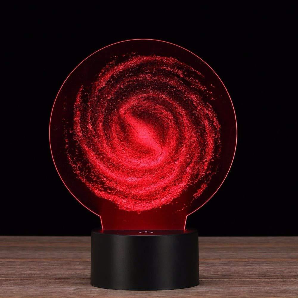 Kinder Geschenk Valentinstag Weihnachten Optische Tornado-Form Lampe 3D Illusion 7 Farben Touch schalter USB Einsatz LED Licht Schlafzimmer Dekorative Tischlampe Party Party Home Decor