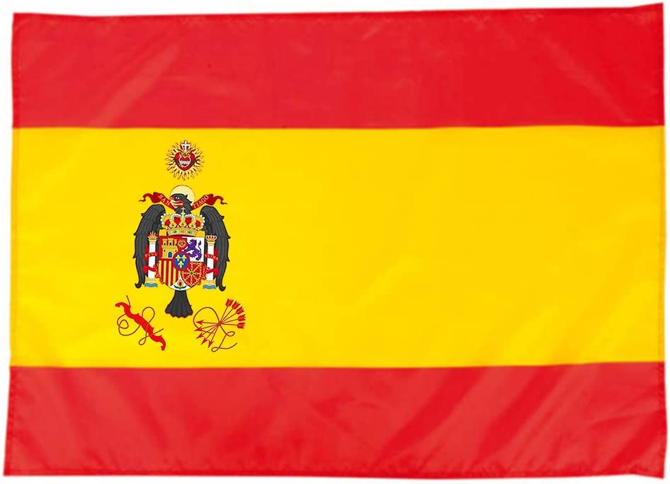 TECMADIGITAL Bandera España Águila de San Juan con ajustes en Las Esquinas: Amazon.es: Jardín