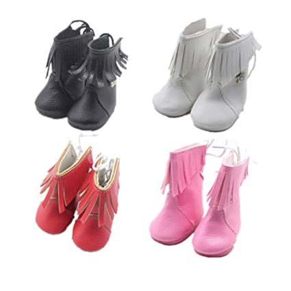 MagiDeal 18inch Girl Doll Fairy PU Boots Shoes for American Doll Accessories