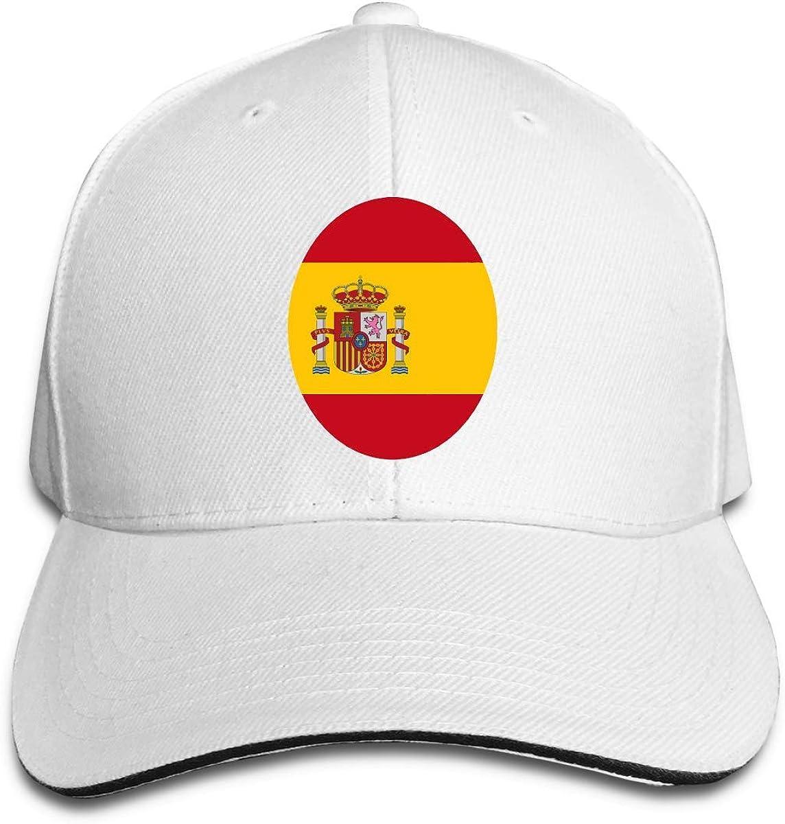 KKs-Shop Bandera de españa España Bandera Redonda Gorra de Camionero Unisex Sombreros de béisbol Lindos Sombrero de papá, Sombreros Deportivos Ajustables al Aire Libre Gorra Sombreros Ajustados: Amazon.es: Ropa y accesorios