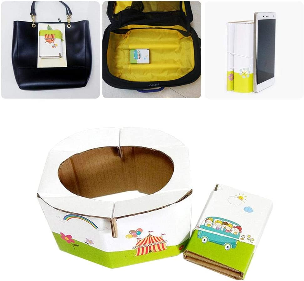 Camping Traveling Hiking and Car Essential over 3 years old Great for Road Trip Potty Emergency Foldable Portable Disposable Hygienic Instant Potty for Kids Toddlers Small Children and Babies