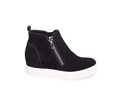 902b046790b Steve Madden Women s Wedgie Black Suede Athletic ...