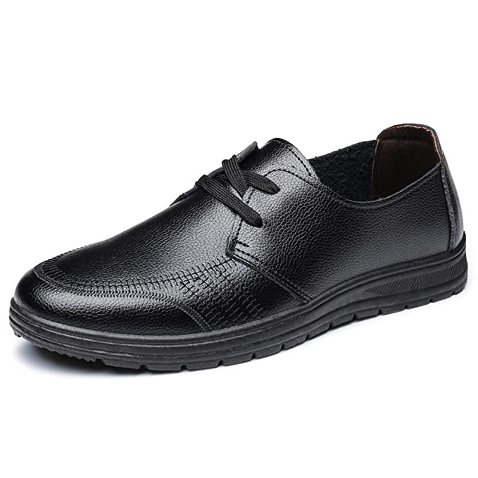 Hilotu Mens Oxford Shoes Lace up Classic Comfortable Modern Formal Business Dress Shoes for Men