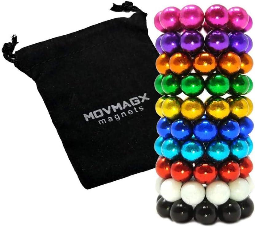 con sacchetto di velluto 100 palline magnetiche per ufficio 5 mm movmagx
