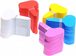 KINGLAKE 500 Pcs 5 Colors Waterproof Plastic Plant Labels T-Type Plant Tag Nursery Flower Garden Labels