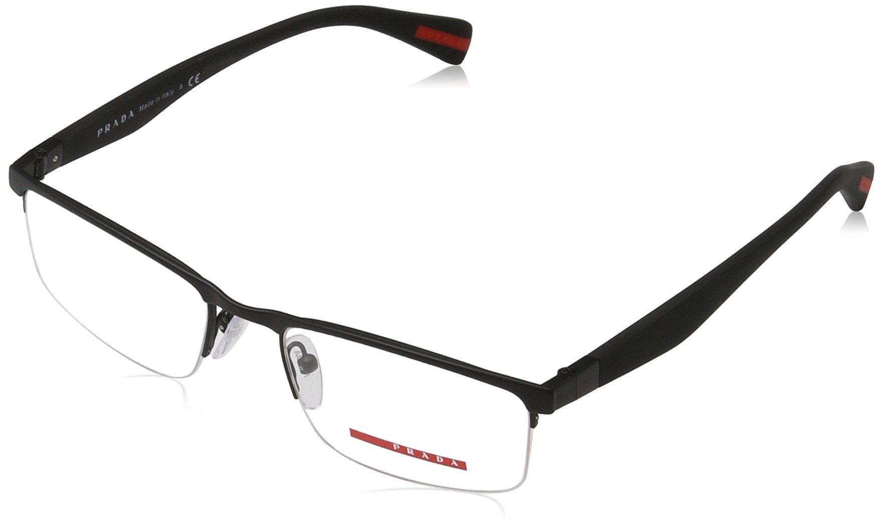 Prada PS52FV DG01O1 Black Rubber Eyeglass, 52mm