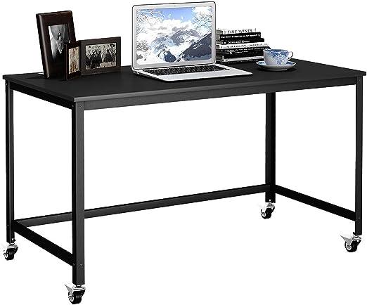 Schreibtisch Arbeitstisch Computertisch Bürotisch 4 Ablagefäche PC-Tisch rollbar