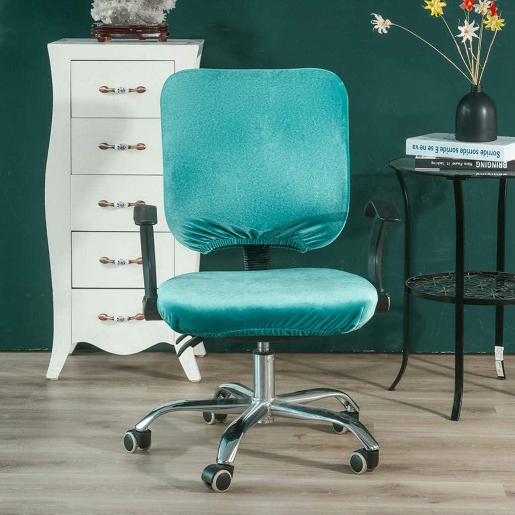 Blau grau R/ücklehne Stuhlbezug Stuhl/überzug Stuhlhusse Strechhusse f/ür Drehstuhl B/ürostuhl Fenteer Sitzbezug