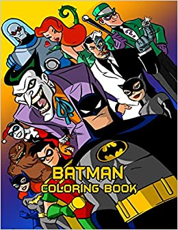 Amazon.com: Batman Coloring Book: Coloring Book for Kids and Adults ...