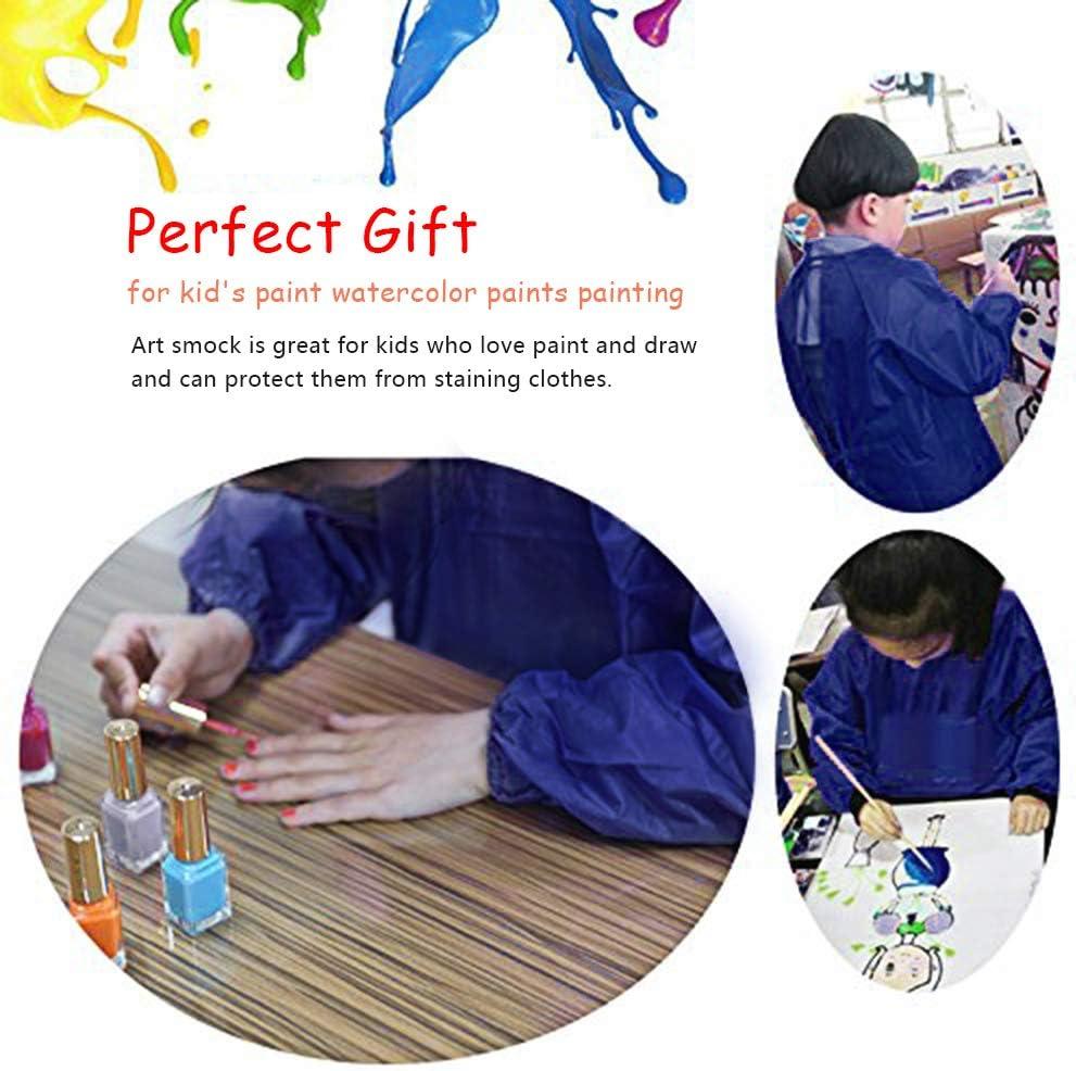 Bricolage Polyester Bleu Tablier Peinture Enfant L/école Activit/és M Tablier enfant pour Peinture