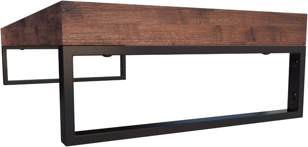 KERABAD 2 x Edelstahl Konsolentr/äger Konsole f/ür Waschtischplatte Regal Handtuchhalter in hochglanzpoliert 45cm