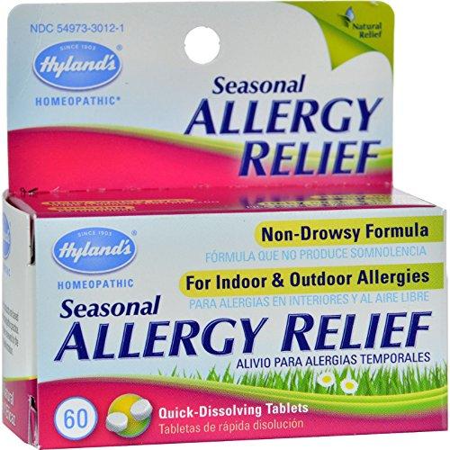 Hylands Homepathic Seasonal Allergy Relief - 60 Tablets (Pack of 2)