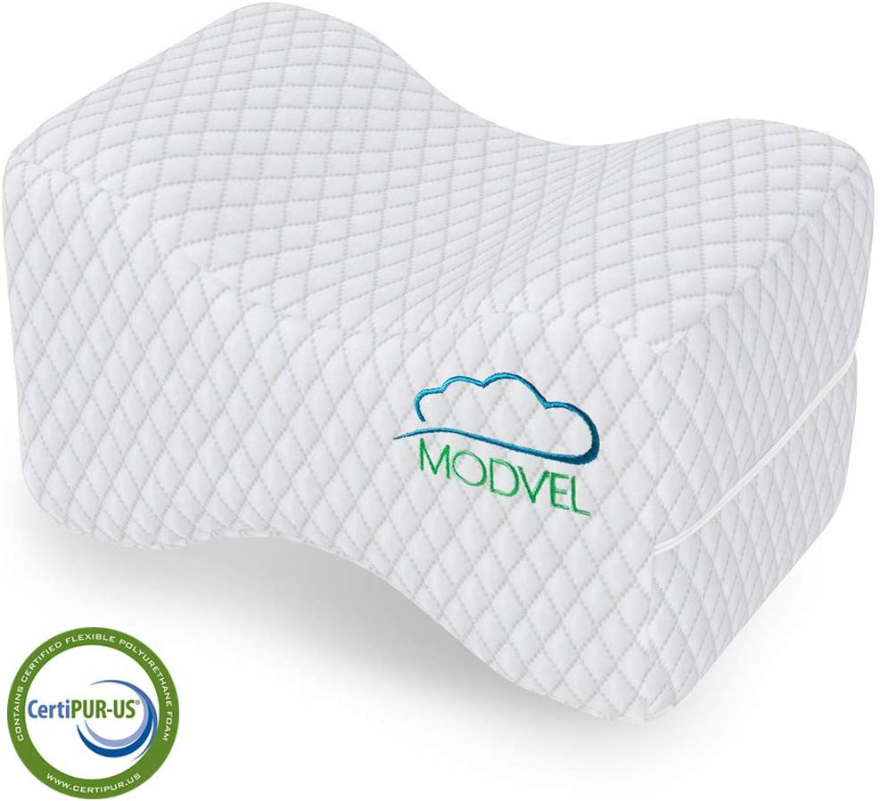 MODVEL Orthopedic Knee Pillow | Memory Foam Cushion For Hip, Sciatica & Lower Back Pain Relief | Provides Support & Comfort (MV-104): Home & Kitchen