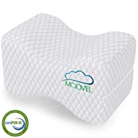 MODVEL Orthopedic Knee Pillow | Memory Foam Cushion For Hip, Sciatica & Lower Back...