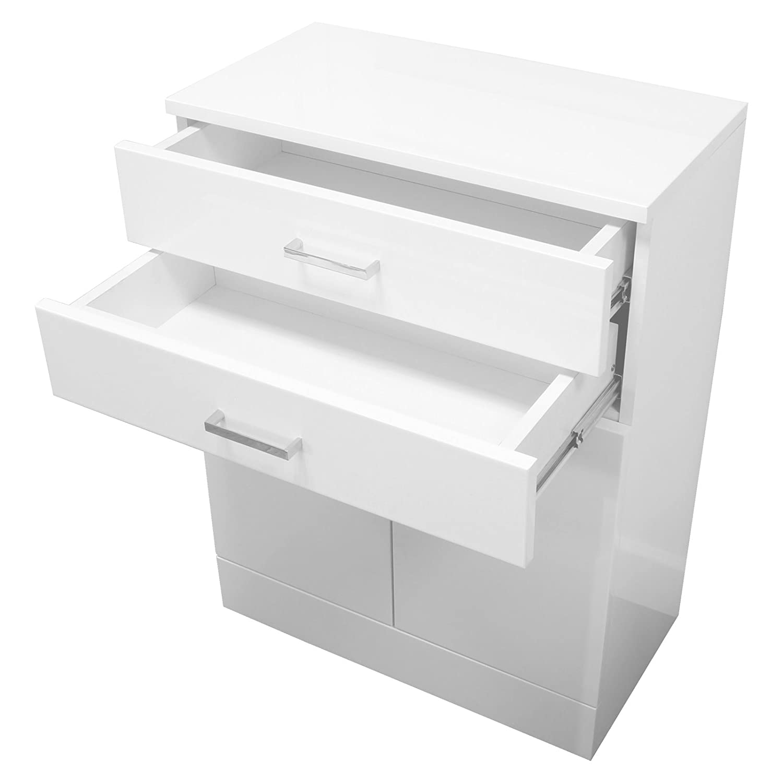 Showerdrape Trento Freestanding White Gloss Bathroom Cabinet: Amazon ...