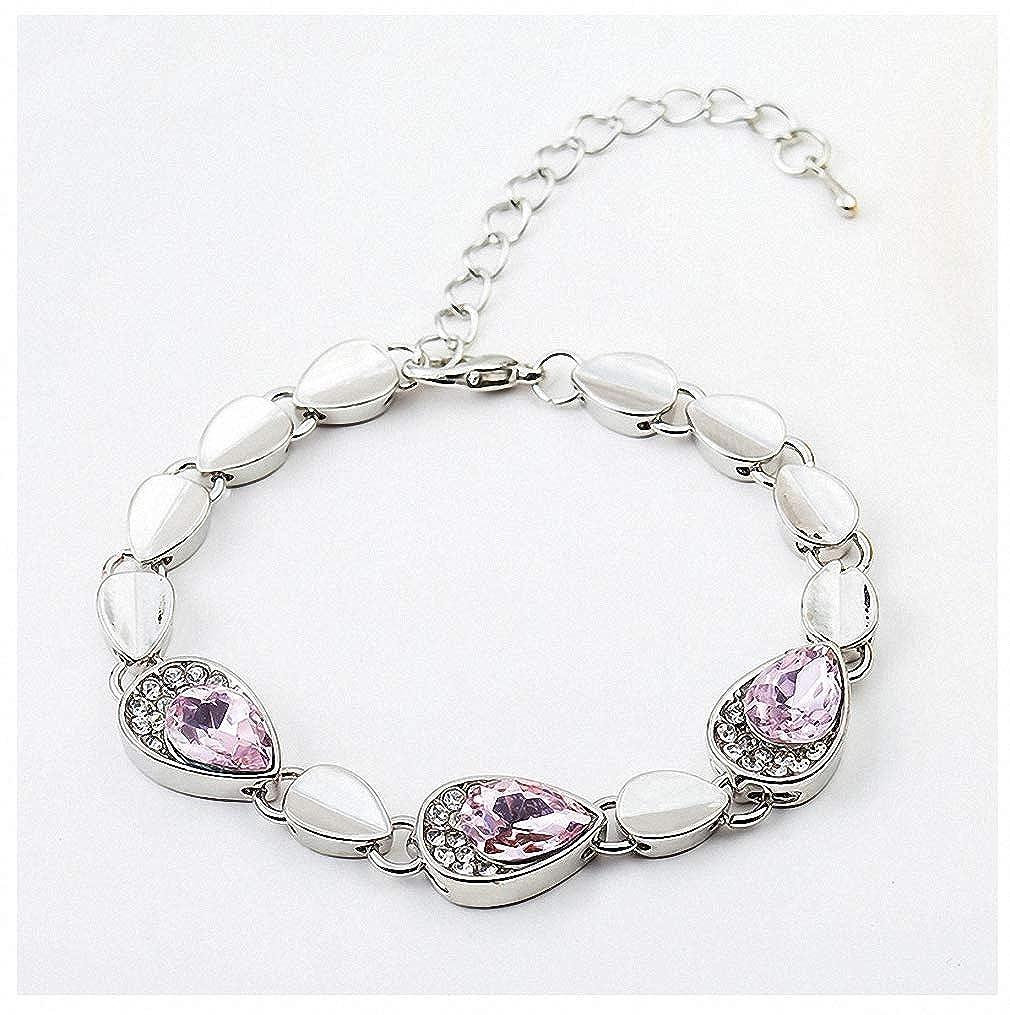 Amazon.com  Giwotu Womens Bracelets Fashion Jewelry Crystal Bracelet  Multi-Color Optional for Women Pink  Jewelry 1d130a10da