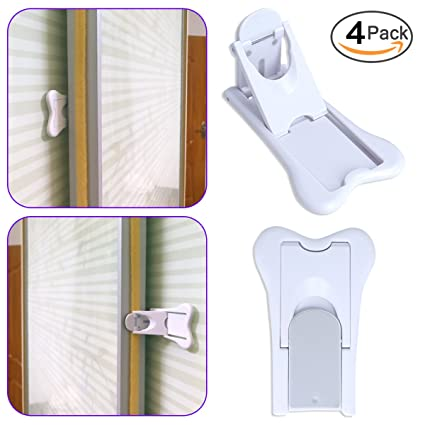 4 Pack Child Safety Sliding Doorwindow Lock For Closet Glass Doors