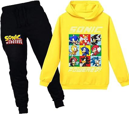 Silver Basic Niños y Niñas Sonic The Hedgehog Chándal Sudadera con Capucha y Pantalón Conjunto Sonic Camisa y Pantalón Traje Fanáticos de Sonic: Amazon.es: Ropa y accesorios