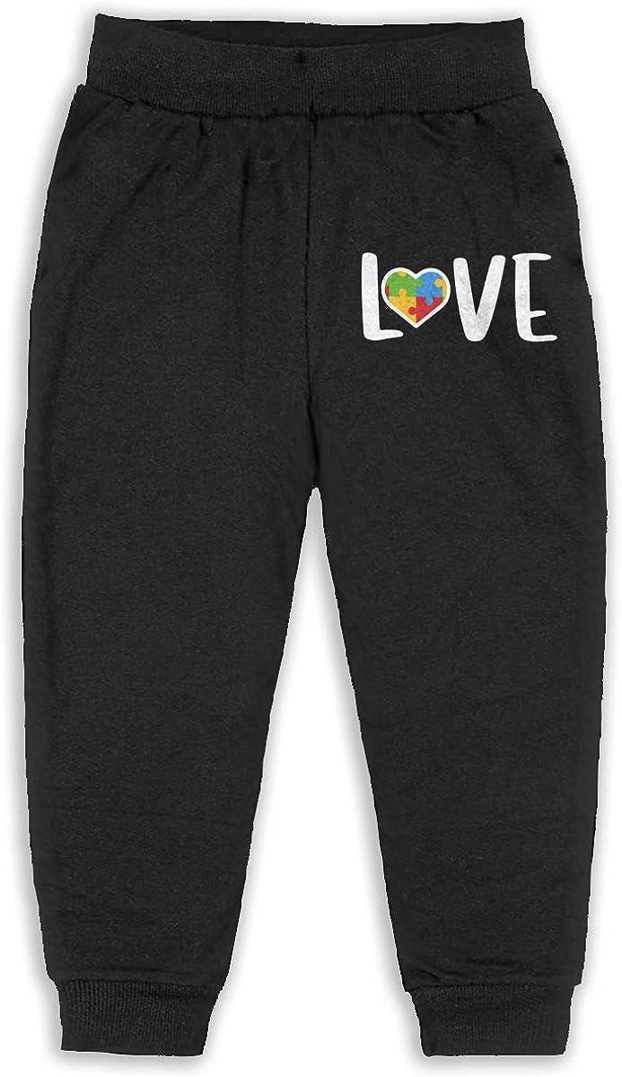 Kids /& Toddler Pants Soft Cozy Baby Sweatpants Autism Awareness Love Fleece Pants Jogger Pants