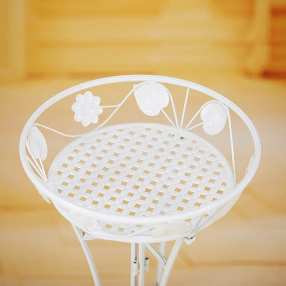 CWJ Flower Pot Holder-European Style Ferro Piano Singolo Fiore Stand Indoor e Outdoor Balcone Decorativo Shelf Plant Risparmio di Spazio,34  76CM,Marronee