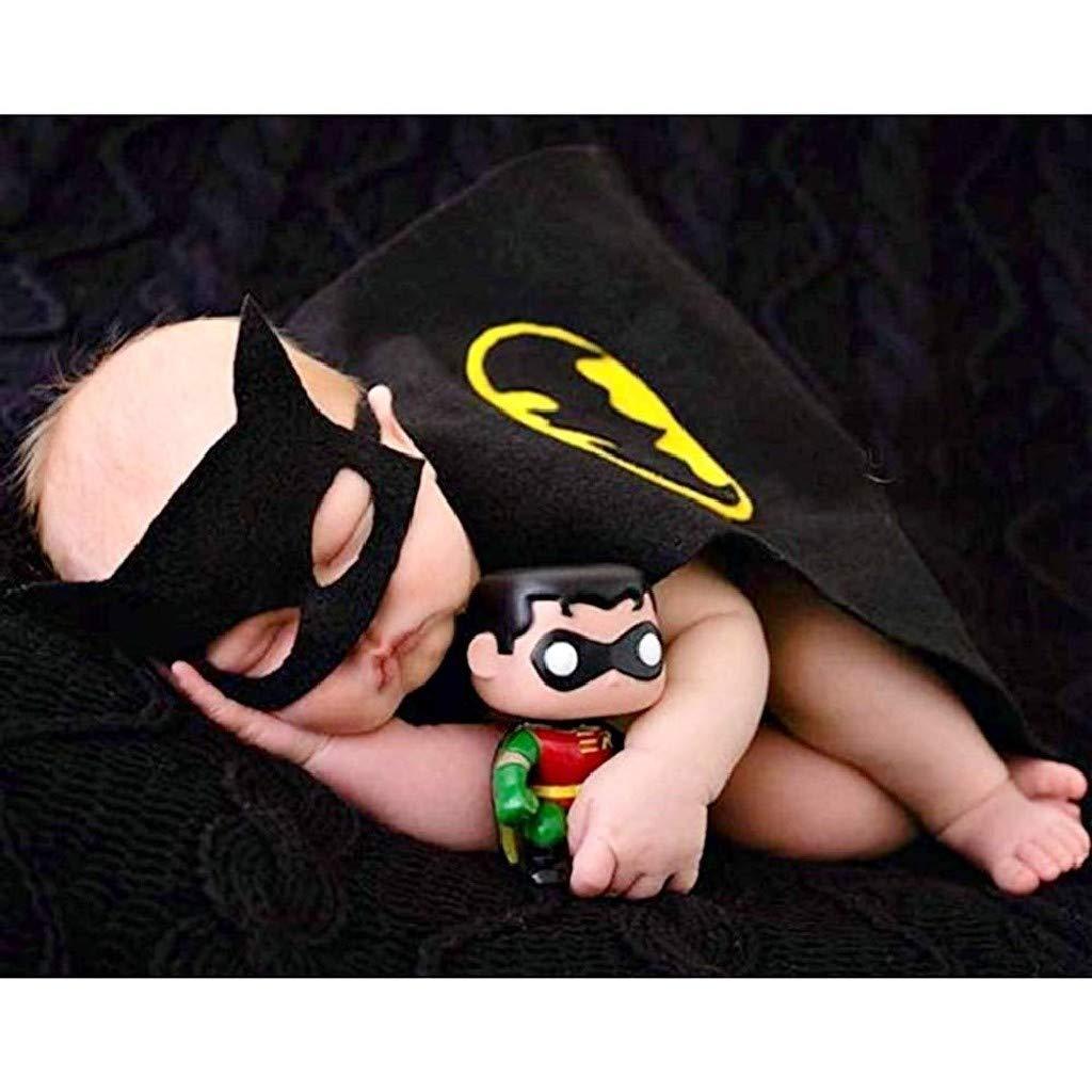 Mantellino batman da neonato con mascherina adatto per book fotografici carnevale e halloween