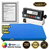 "PrimeScales Heavy Duty 48""x72"" Industrial Floor Scale PS-10000F & Indicator – Accurate Digital Pallet & Warehouse Scales, Built-In Smart Data Function & Calibration Certification"