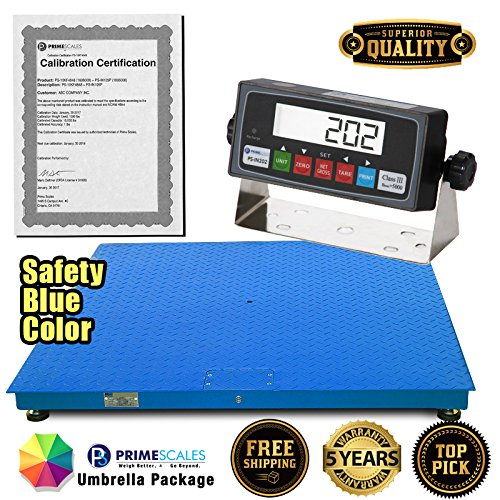 PS-10KF-4'x 4′ 10,000x1lb Floor Scale/Pallet Scale with Smart Scale Ready Indicator ()