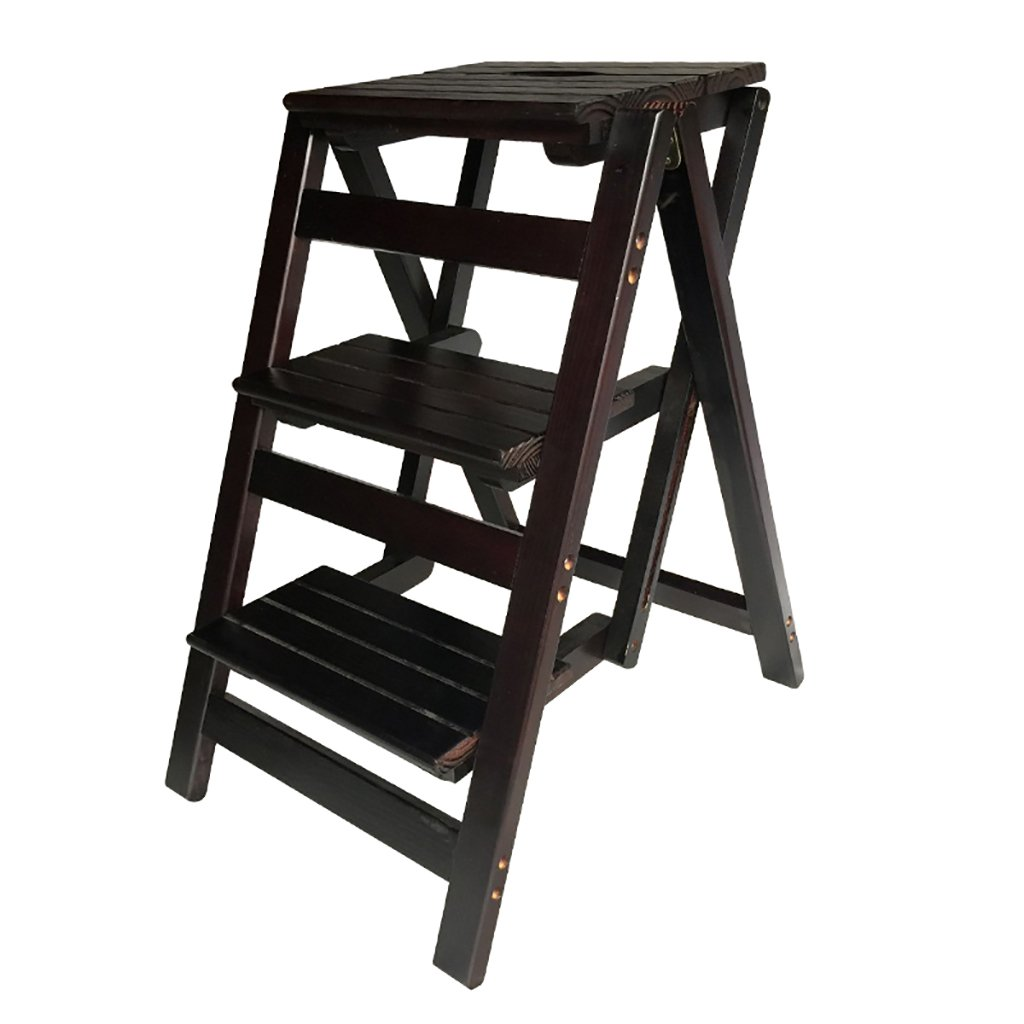 ステップスツールソリッドウッドフラワースタンド家庭用はしご折りたたみラダーシェルフ木製はしごラダー多機能屋内家庭用小型はしごの昇順 (色 : C) B07G9D88SZ C