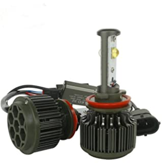 RAYCH High Power V16 Cree Led Headlight Bulbs Conversion Kit, 60W 7200LM 6000K H8 H9