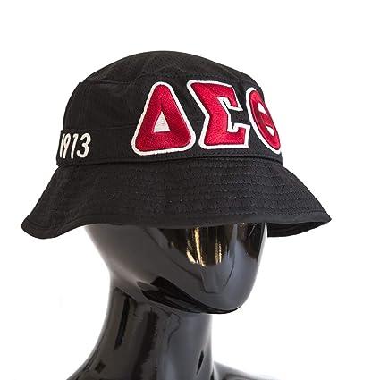 Delta Sigma Theta Sorority Black Floppy Bucket Hat at Amazon Women s  Clothing store  ab896b17be9d