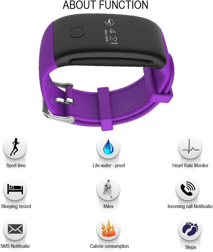QIMAOO Montre de Sport Bracelet Intelligente Bluetooth Bracelet Fitness Tracker