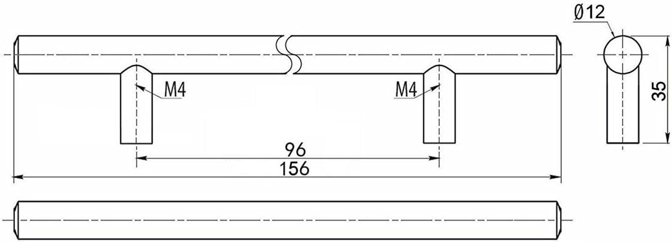 SO-TECH/® Relinggriff G11 M/öbelgriff M/öbelgriffe massiv verchromt BA 128 mm 1-5-10-oder 30 St/ück