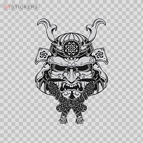 Sticker Japanese Samurai Demon Mask Durable Boat D217 8XADF ()